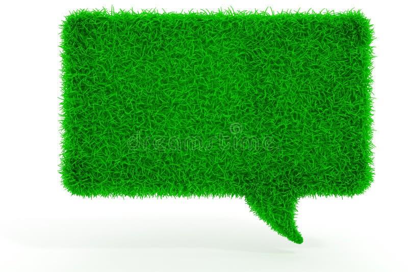 беседа пузыря зеленой травы 3d иллюстрация вектора
