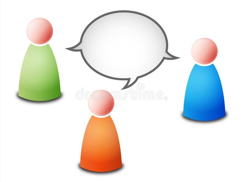 беседа иллюстрация вектора