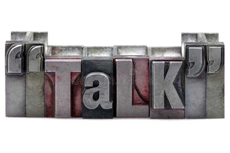 беседа letterpress стоковое изображение