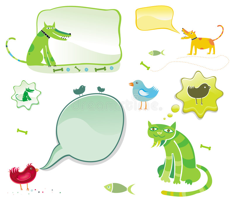 беседовать животных иллюстрация штока