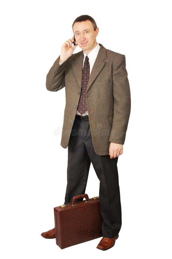беседы мобильного телефона человека стоковые фотографии rf