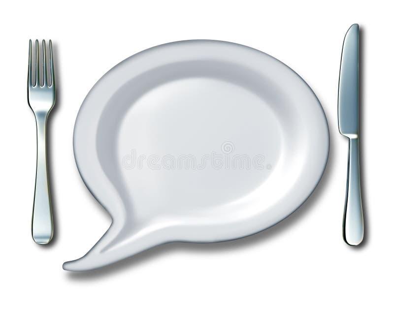Беседа еды иллюстрация штока