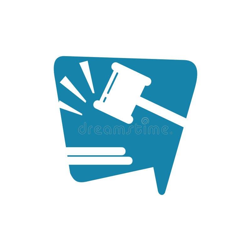 Беседа закона иллюстрация вектора