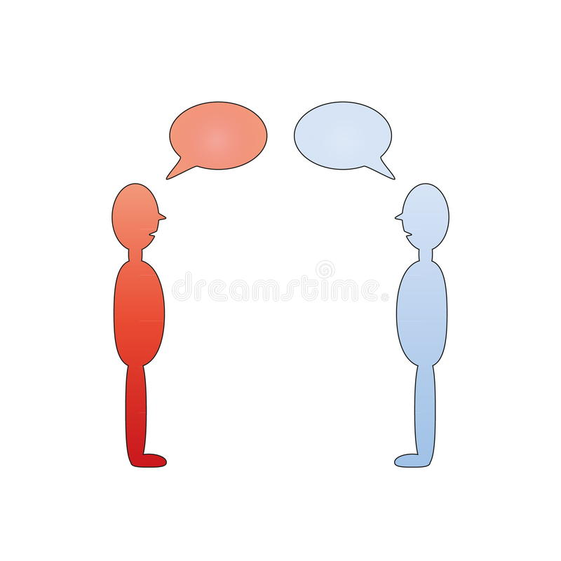 Беседа людей иллюстрация вектора