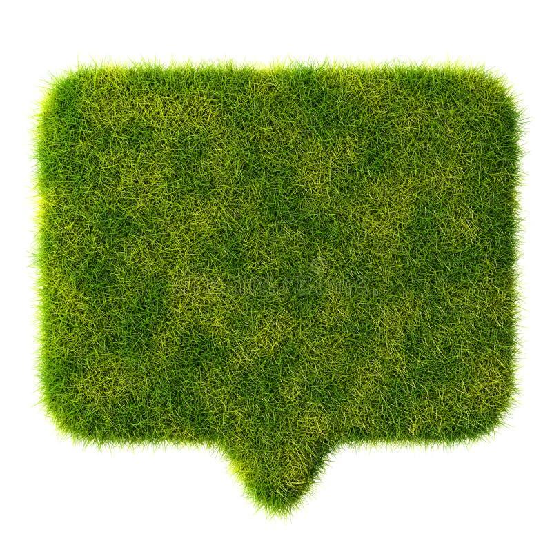 беседа пузыря зеленой травы 3d на белой предпосылке иллюстрация штока