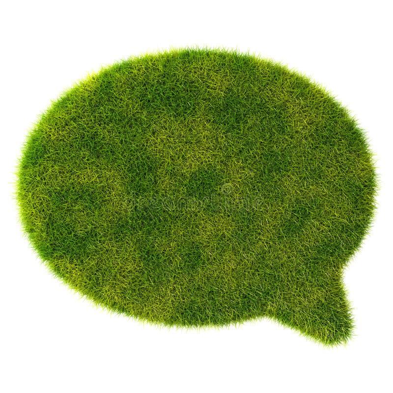 беседа пузыря зеленой травы 3d на белой предпосылке иллюстрация вектора