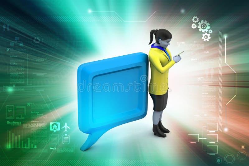 беседуя пузырь 3d с людьми бесплатная иллюстрация