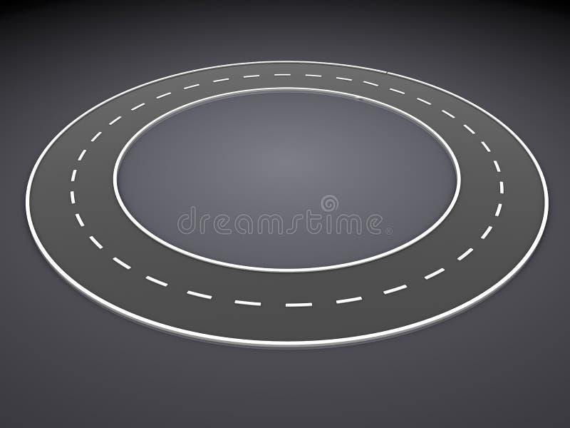 Бесконечная дорога иллюстрация вектора