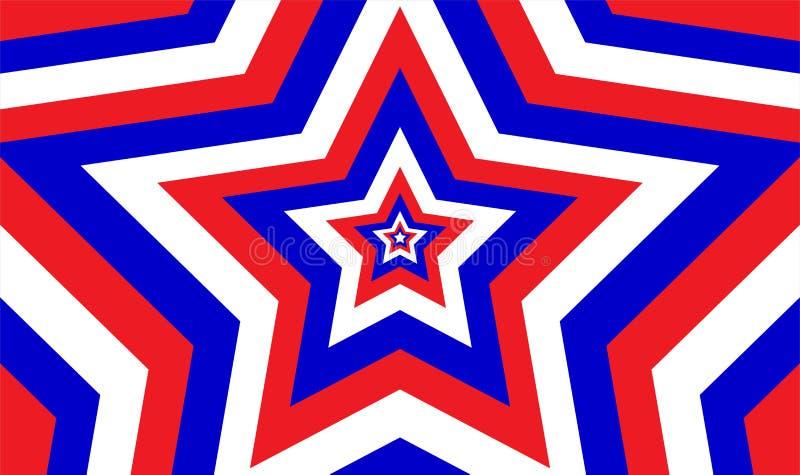 Бесконечная патриотическая картина звезды иллюстрация вектора