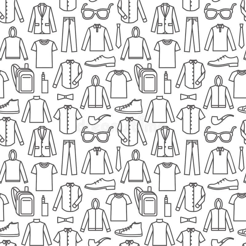 Бесконечная предпосылка одежд иллюстрация штока