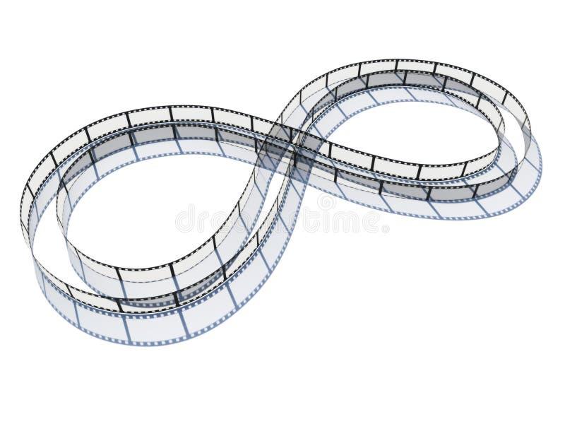 бесконечная прокладка пленки иллюстрация вектора