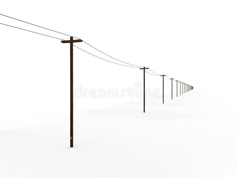 Бесконечные опоры линии электропередач бесплатная иллюстрация