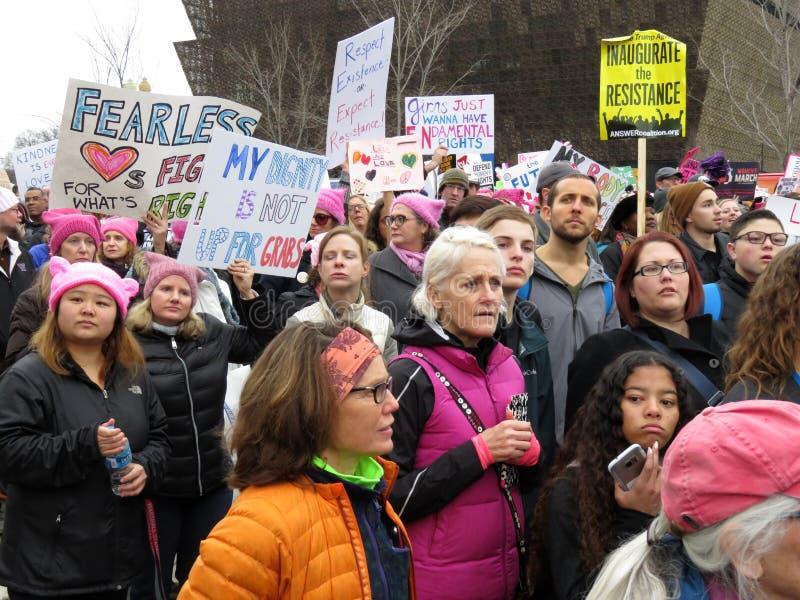 Бесконечный протест в DC Вашингтона стоковое изображение