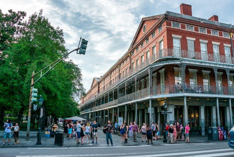 Беспечальный французский квартал Историческая достопримечательность Нового Орлеана туристская, Луизиана стоковые изображения