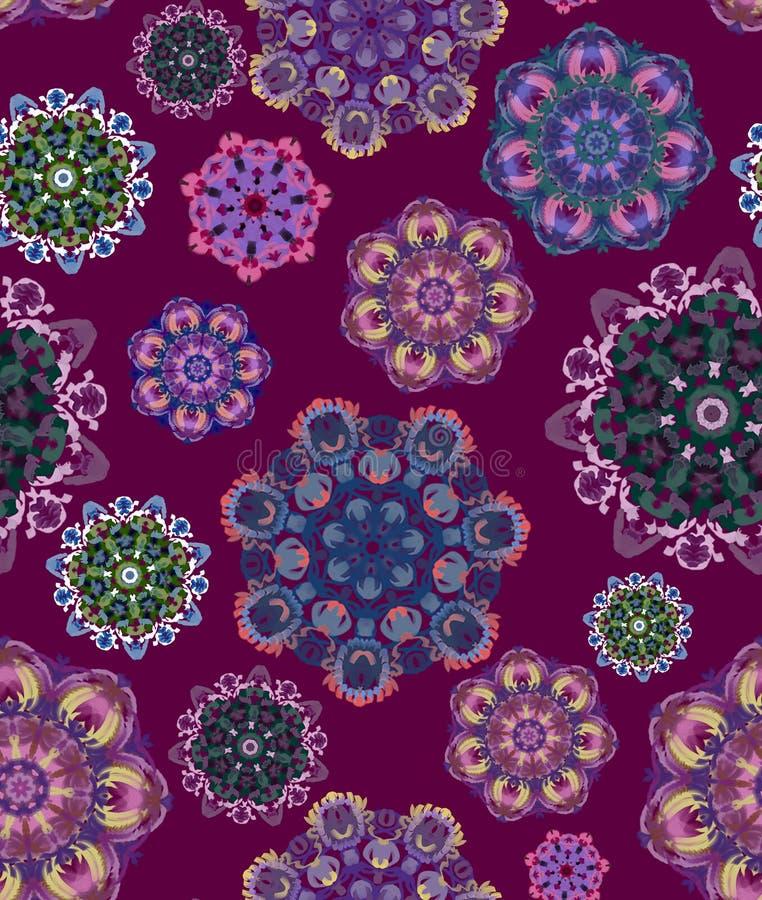 Беспламенная этническая модель с цветочными мотивами стоковая фотография
