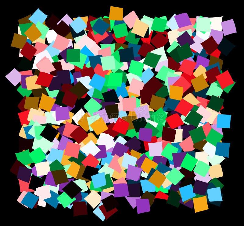 Беспорядок квадратов деформированных цветом бесплатная иллюстрация