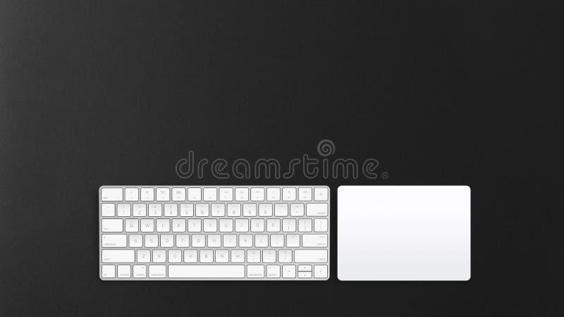 Беспроводные клавиатура компьютера и trackpad стоковые фотографии rf
