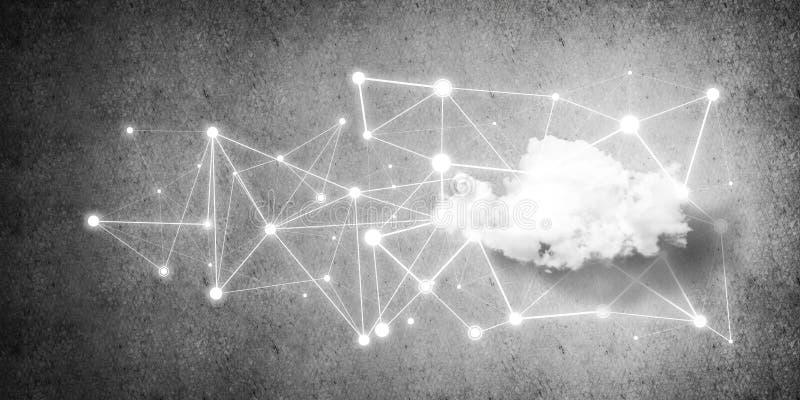 Беспроводные технологии для соединения и данные по делить как abstrac бесплатная иллюстрация