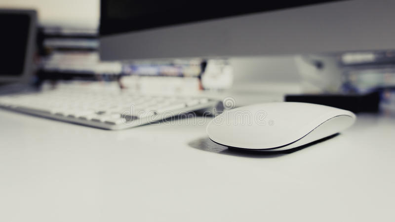 Беспроволочные мышь и клавиатура стоковые изображения rf