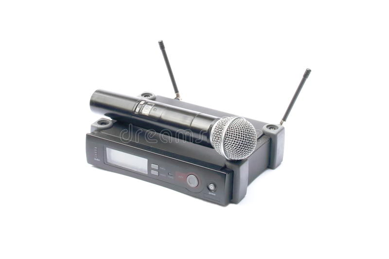 Беспроволочный микрофон стоковое изображение rf