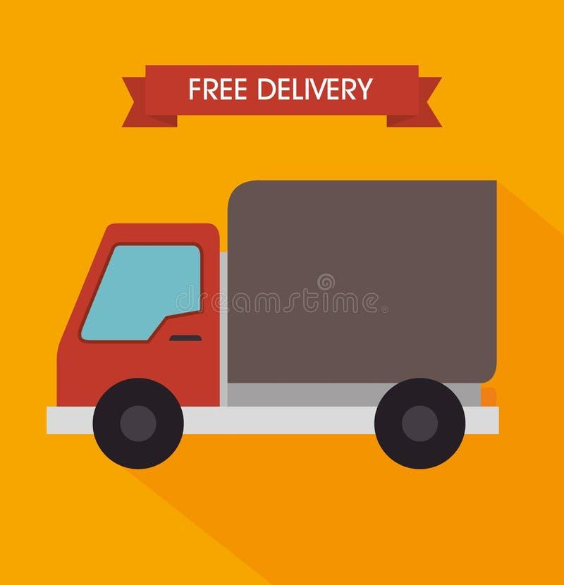 Бесплатная доставка и доставка иллюстрация штока