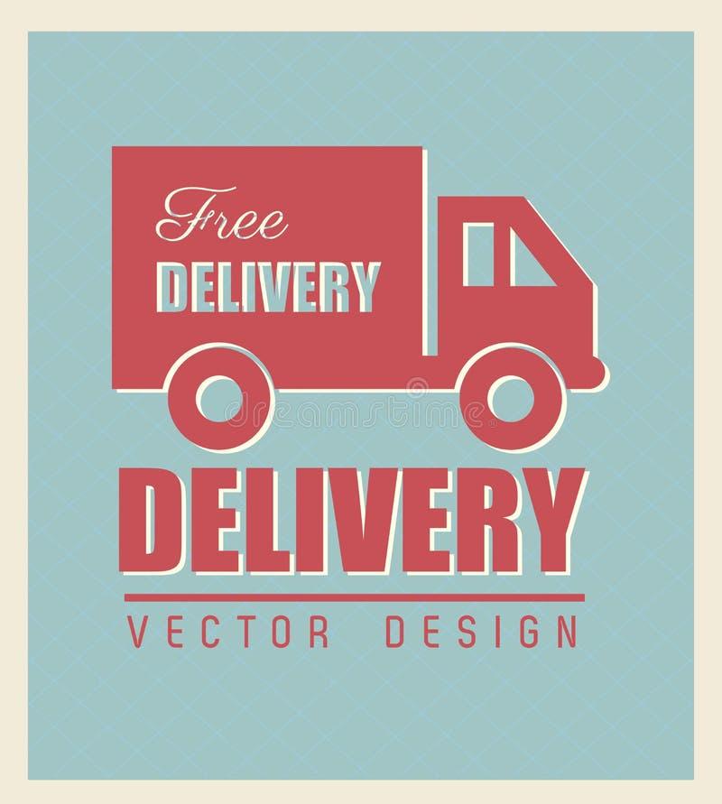 Бесплатная доставка иллюстрация вектора