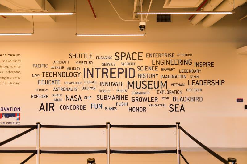 Бестрепетный музей моря, воздуха и космоса, Нью-Йорк стоковая фотография