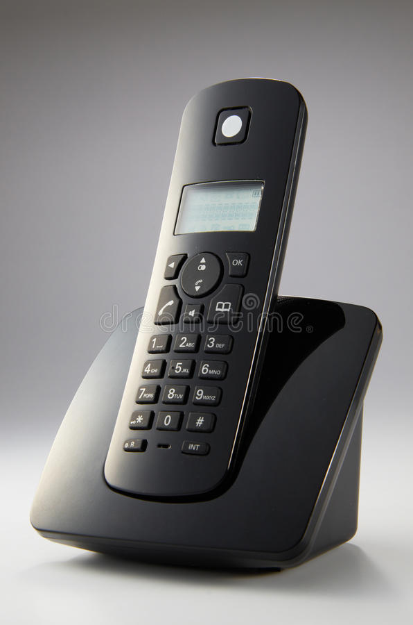 бесшнуровой телефон стоковая фотография rf
