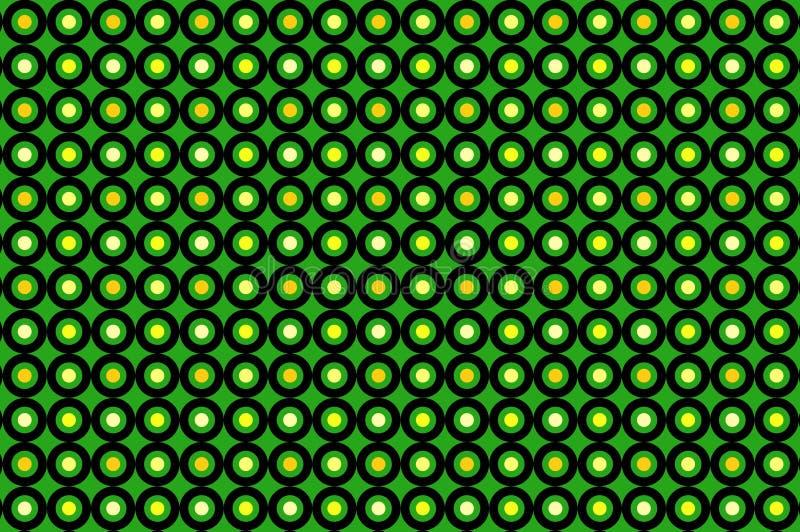 Бесшовный узор на зеленом фоне бесплатная иллюстрация