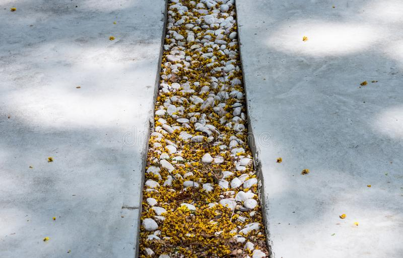 Бетонная плита тропы стоковые изображения rf