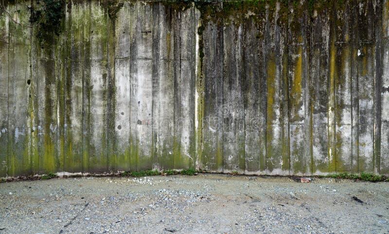 Бетонная стена с гравием стоковые изображения rf