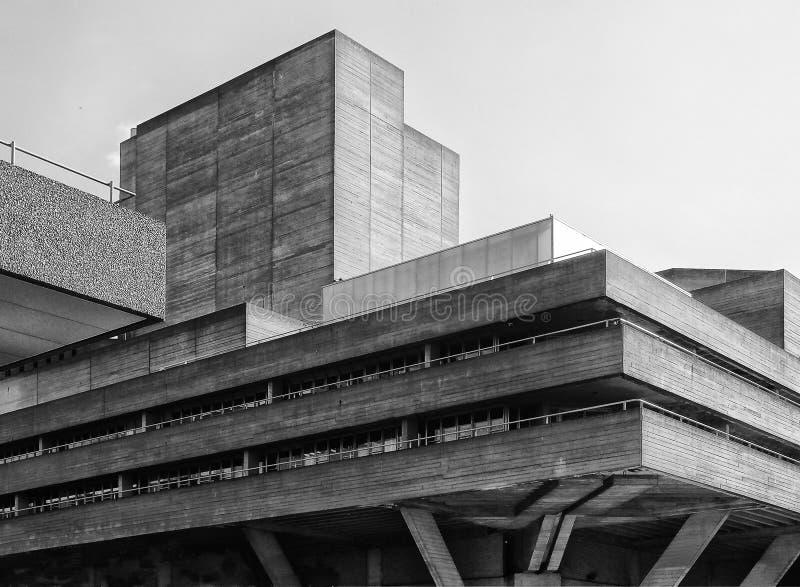 Бетонное здание Brutalist - угол стоковое изображение