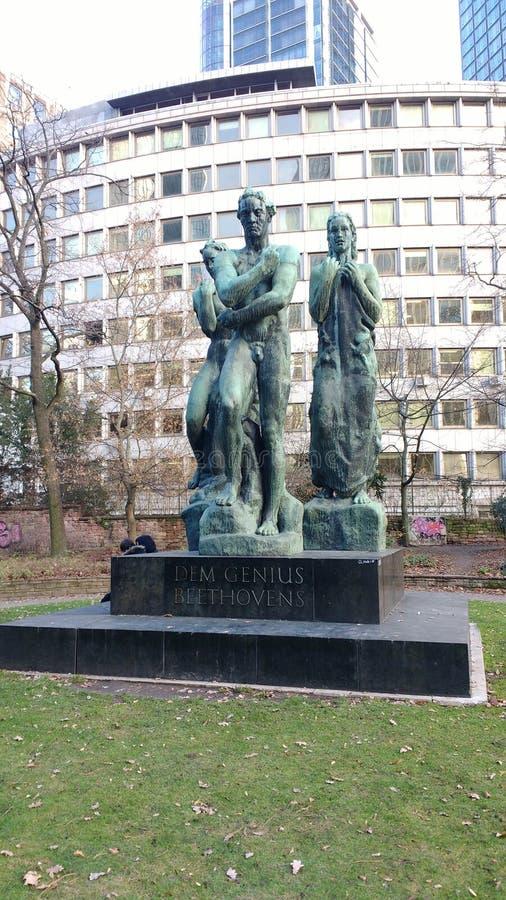 Бетховен гения Dem памятника Бетховен стоковые изображения rf