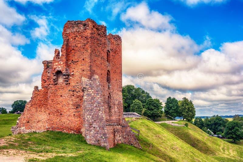 Беларусь: руины Navahrudak, Naugardukas, Nowogrodek, Novogrudok castlen стоковые изображения