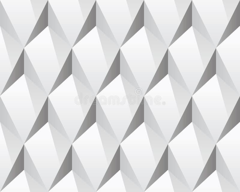 Белая абстрактная безшовная текстура 3d (вектор) иллюстрация штока