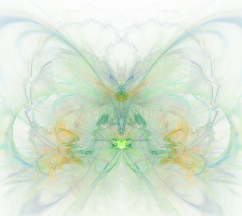 Белая абстрактная предпосылка с радугой - зеленый цвет, бирюза, orang иллюстрация штока