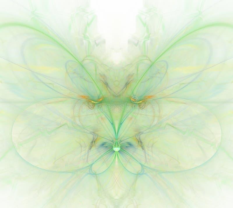 Белая абстрактная предпосылка с радугой - зеленый цвет, бирюза, orang бесплатная иллюстрация