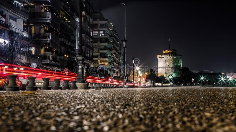 Белая башня Thessaloniki, Греции стоковая фотография rf