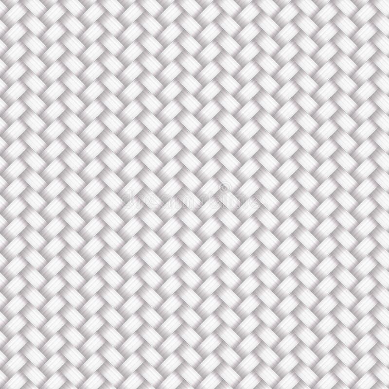 Белая безшовная плетеная картина иллюстрация вектора