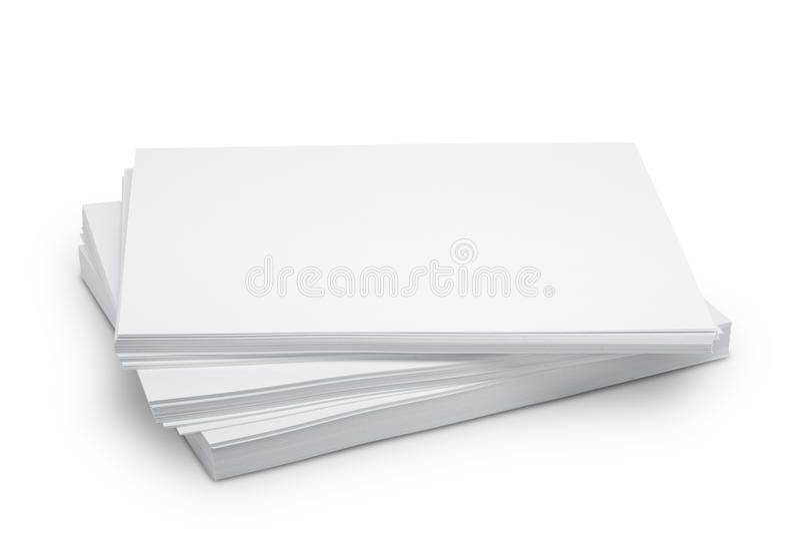 Белая бумага стога стоковые фото