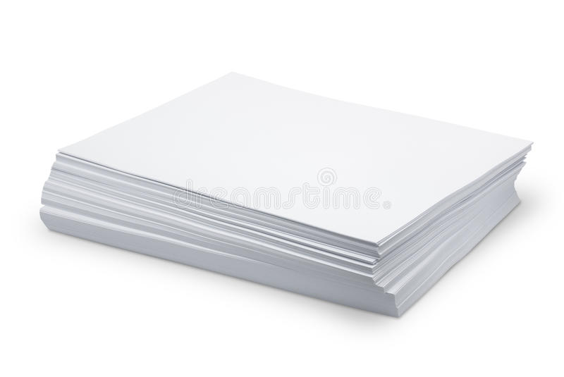 Белая бумага стога стоковая фотография rf