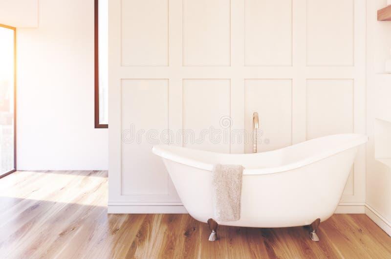 Белая ванная комната, белый ушат иллюстрация штока