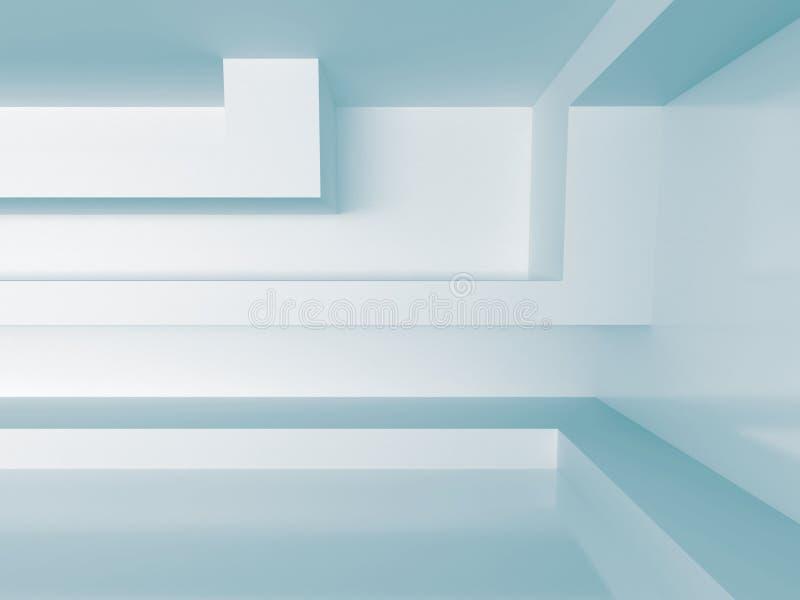 Белая внутренняя предпосылка абстрактная принципиальная схема зодчества иллюстрация штока