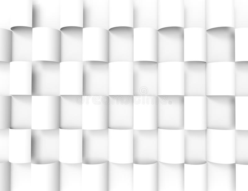 Белая геометрическая предпосылка texture.3d иллюстрация штока