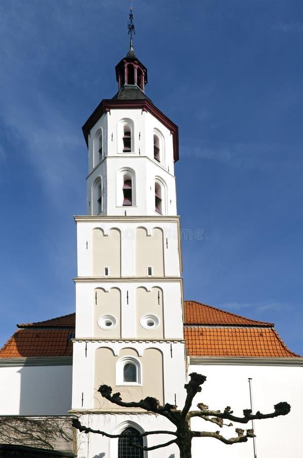 Белая евангелическая церковь, Xanten, Германия стоковое фото