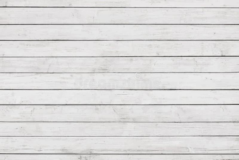 Белая деревянная стена, таблица, поверхность пола Светлая текстура древесины вектора бесплатная иллюстрация