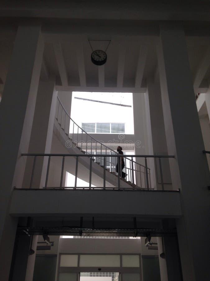 Белая лестница стоковые изображения