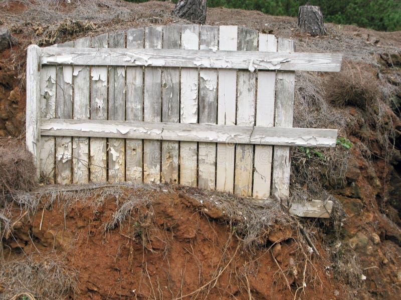 Белая загородка Grunge стоковое фото rf