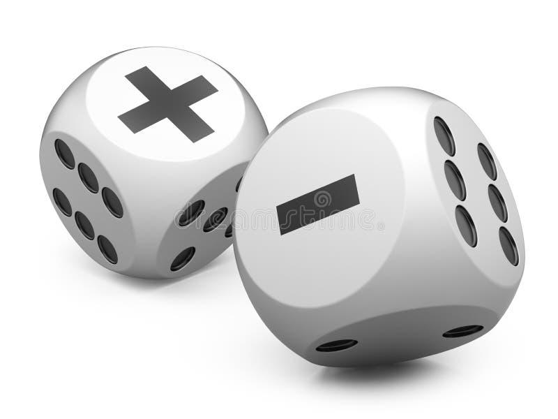 Белая игра dices острословие плюс минус бесплатная иллюстрация