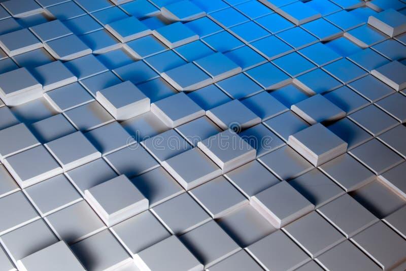 Белая и голубая предпосылка регулярно сформированный стоковое изображение rf